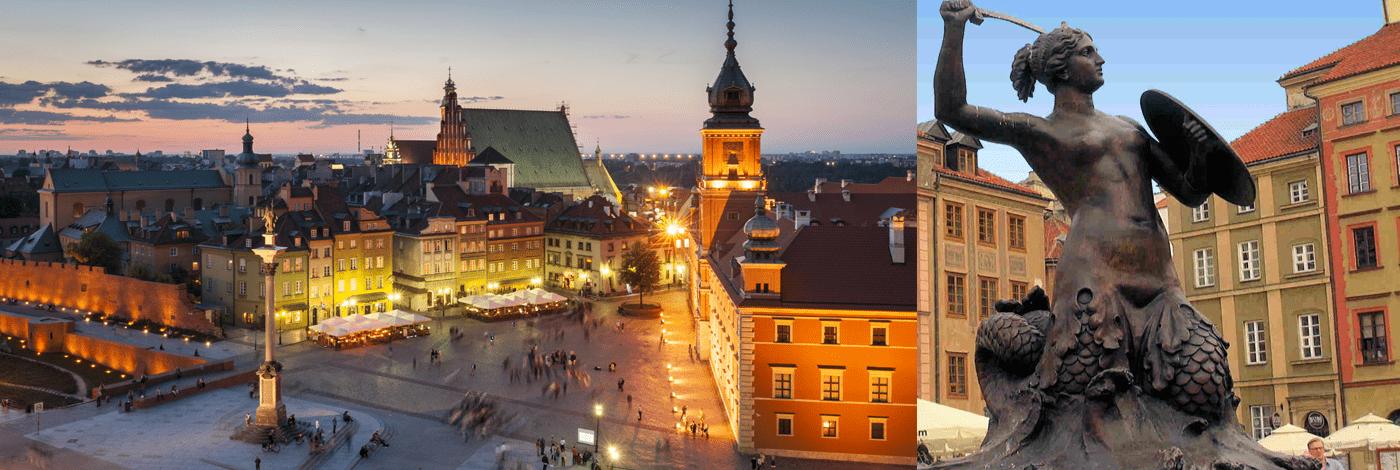 Gamla stan i Warszawa.