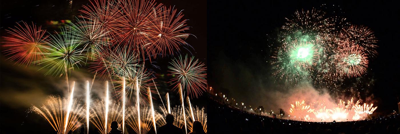 International Fireworks Festival i Warszawa.