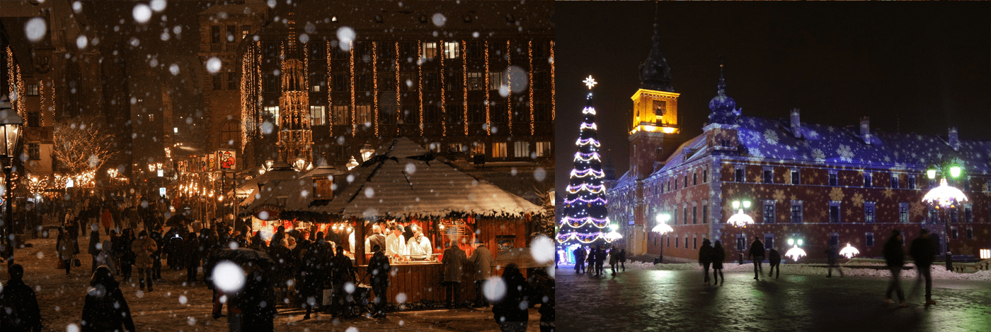 Julmarknad i Warszawa.