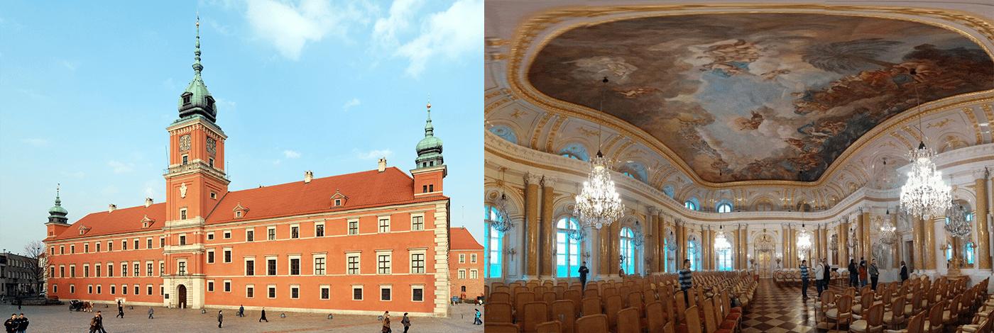 Kungliga Slottet i Warszawa.