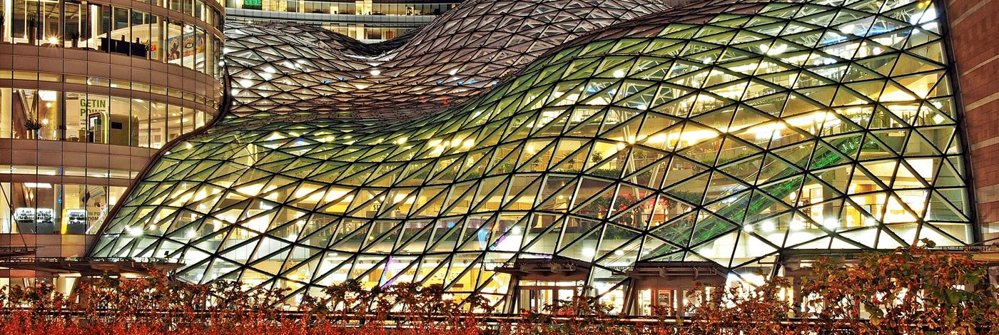 Shoppingcenter Zlote Tarasy i Warszawa.