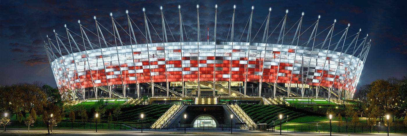 Nationalstadion i Warszawa.