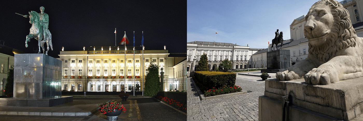 Presidentpalatset i Warszawa.