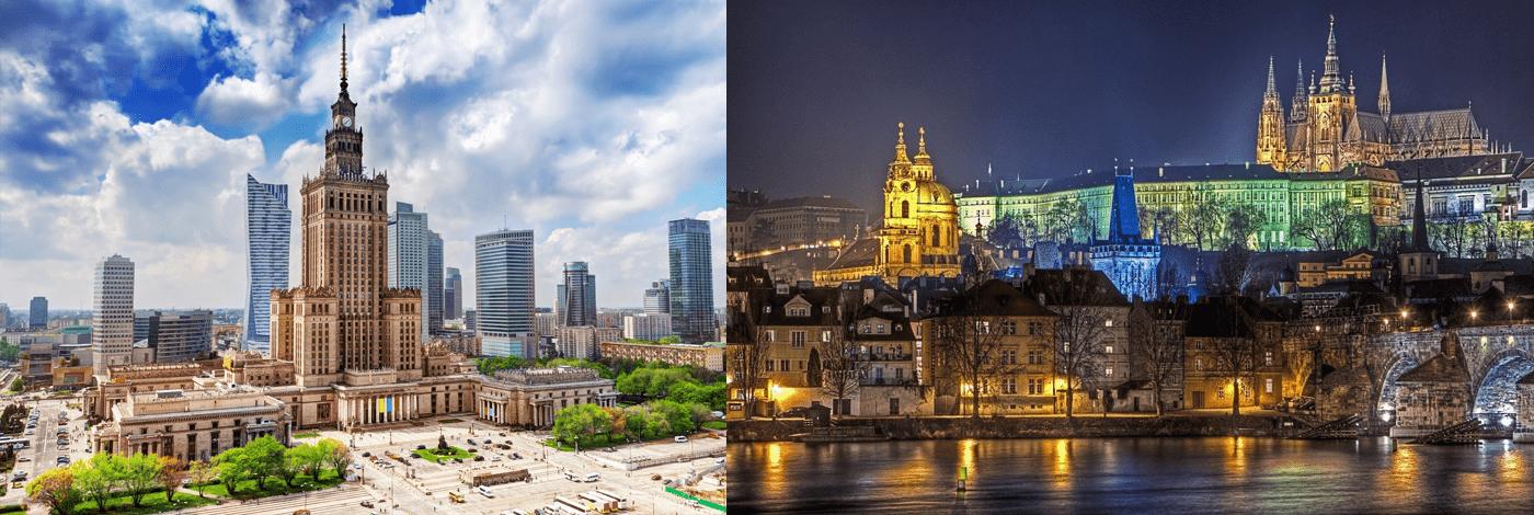 Warszawa eller Krakow.